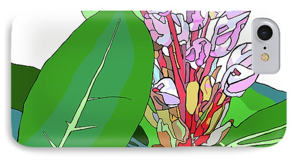 Rhododendron Graphic IPhone Case by Jamie Downs