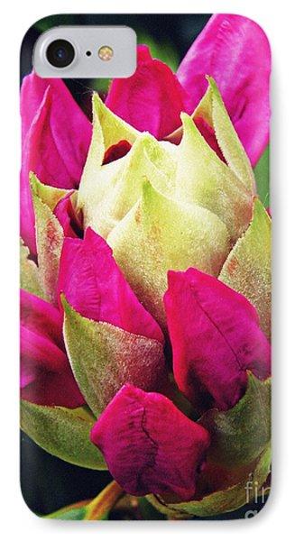 Rhododendron Velvet    IPhone Case by Sarah Loft