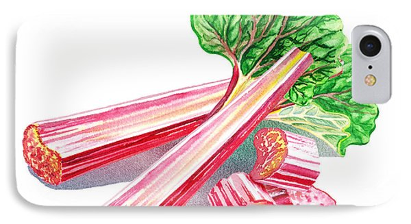IPhone 7 Case featuring the painting Rhubarb Stalks by Irina Sztukowski