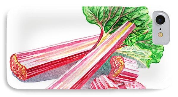 IPhone Case featuring the painting Rhubarb Stalks by Irina Sztukowski