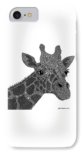 Rhymes With Giraffe IPhone Case by Laura McLendon