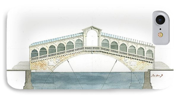 Rialto Bridge Venice IPhone Case by Juan Bosco