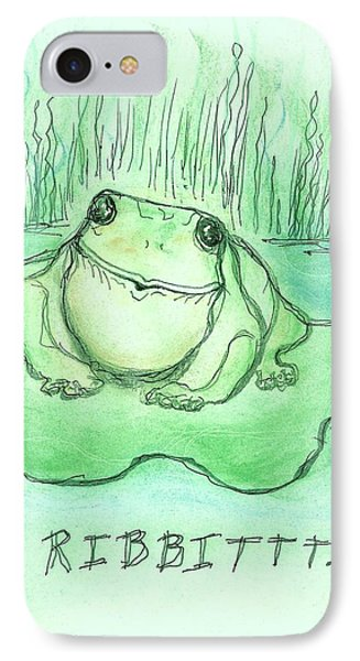 Ribbittt.... IPhone Case by Denise Fulmer