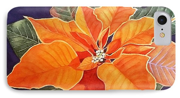 Ribbon Candy Poinsettia IPhone Case