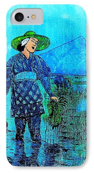 Rice Field Blues IPhone Case by Roberto Prusso