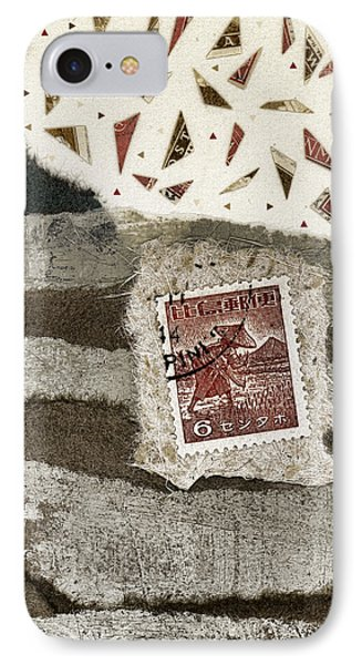 Rice Paddies Collage IPhone Case by Carol Leigh