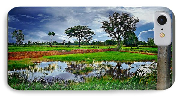 Rice Paddy View IPhone Case by Ian Gledhill