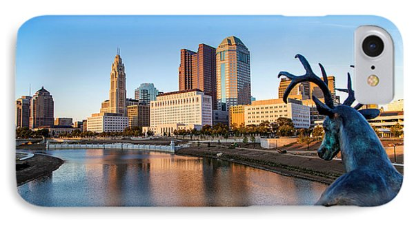 Rich Street Bridge Columbus IPhone Case by Alan Raasch