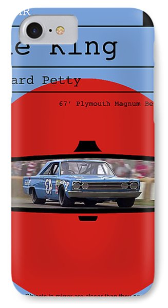 Richard Petty, The King, Plymouth Magnum Belvedere, Minimalist Poster IPhone Case by Thomas Pollart