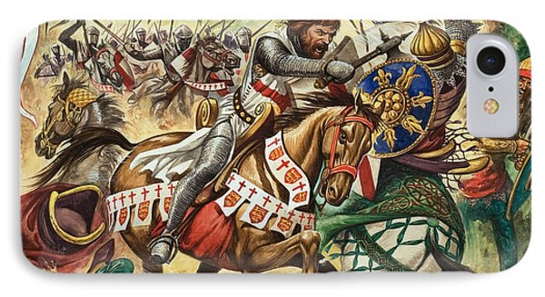 Richard The Lionheart During The Crusades IPhone Case by Peter Jackson