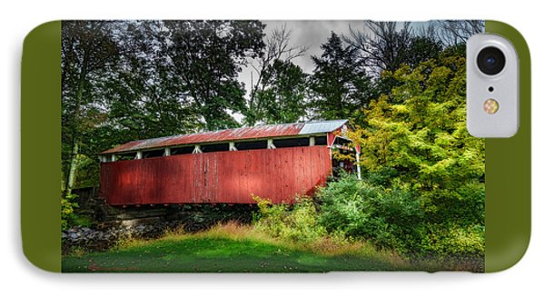 Richards Covered Bridge IPhone Case by Marvin Spates