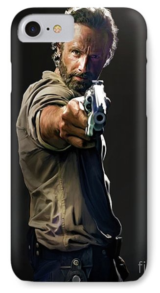 Rick Grimes  IPhone Case by Paul Tagliamonte
