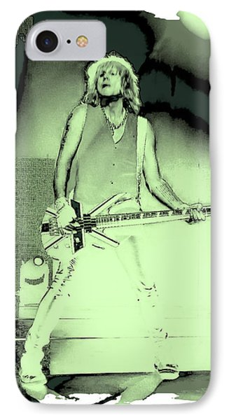 Rick Savage - Def Leppard IPhone 7 Case by David Patterson