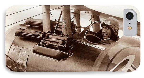 Rickenbacker And His Spad Xiii 1918 IPhone Case by US Signal Corp