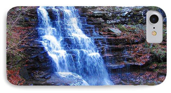 Ricketts Glen Waterfall 3941  IPhone Case by David Dehner