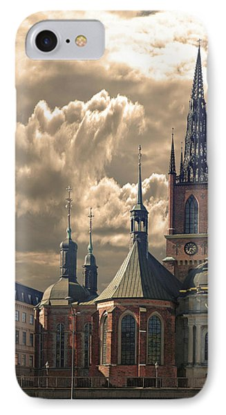 IPhone Case featuring the photograph Riddarholm Church - Stockholm by Jeff Burgess