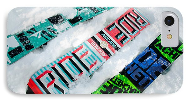 Ride In Powder Snowboard Graphics In The Snow Phone Case by Andy Smy