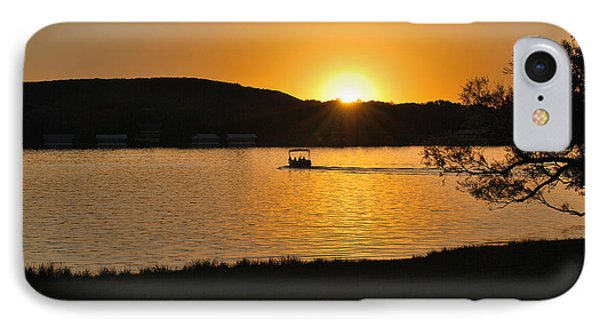 IPhone Case featuring the photograph Ride Into The Sunset by Teresa Blanton