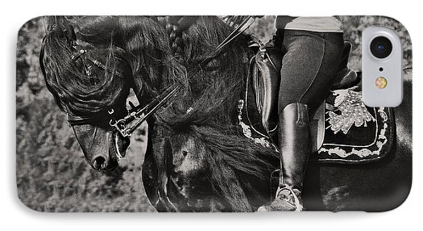 Rider And Steed Dance IPhone Case by Wes and Dotty Weber