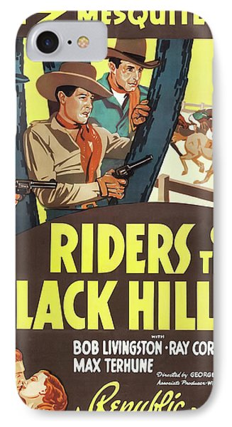 Riders Of The Black Hills 1938 IPhone Case