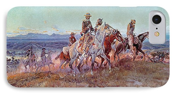 Riders Of The Open Range Phone Case by Charles Marion Russell
