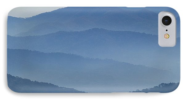 Ridgelines Great Smoky Mountains IPhone Case by Rich Franco