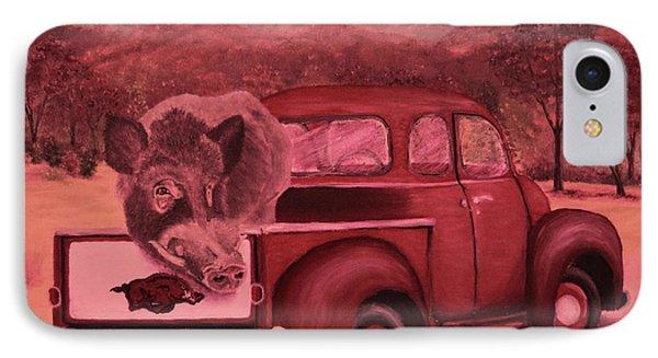 Ridin' With Razorbacks 3 IPhone Case by Belinda Nagy