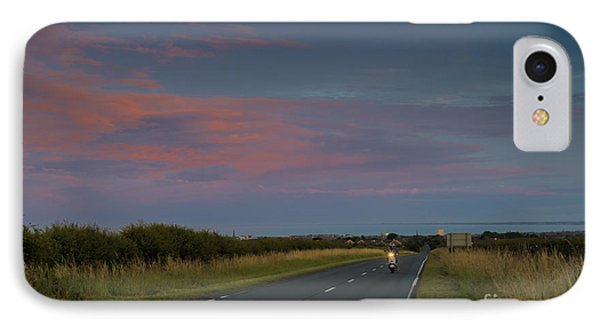Riding Into The Sunset IPhone Case by David  Hollingworth