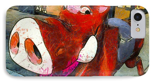 IPhone Case featuring the photograph Riding Pig Of Pismo Beach by Floyd Snyder