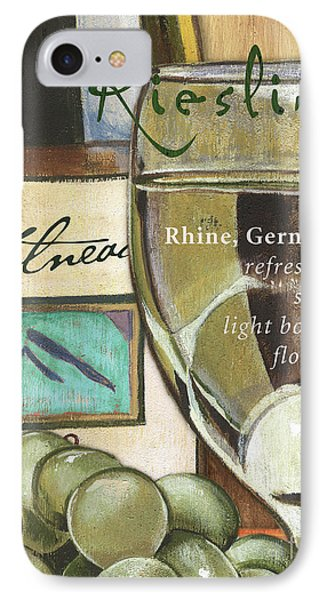 Riesling Wine IPhone Case by Debbie DeWitt