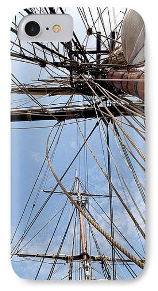 Rigging Aboard The Hms Bounty IPhone Case by Michelle Wiarda