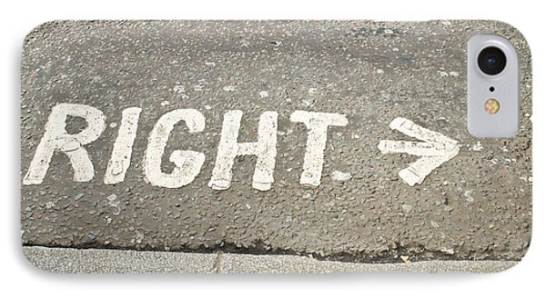 Right Sign IPhone Case by Tom Gowanlock