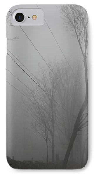 Right Thru The Trees IPhone Case by Karol Livote