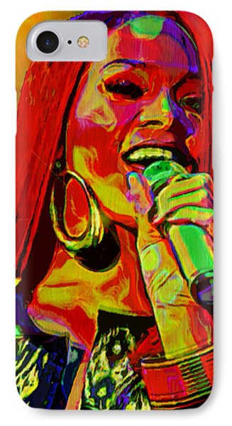 Rihanna 2 IPhone 7 Case by  Fli Art