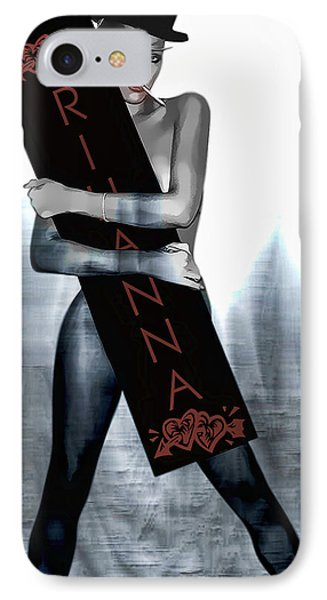 Rihanna Love Card By Gbs IPhone 7 Case by Anibal Diaz