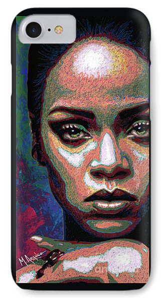 Rihanna IPhone Case by Maria Arango