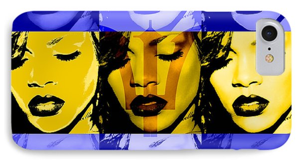 Rihanna Warhol Barbados By Gbs IPhone Case by Anibal Diaz