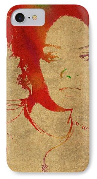 Rihanna Watercolor Portrait IPhone 7 Case
