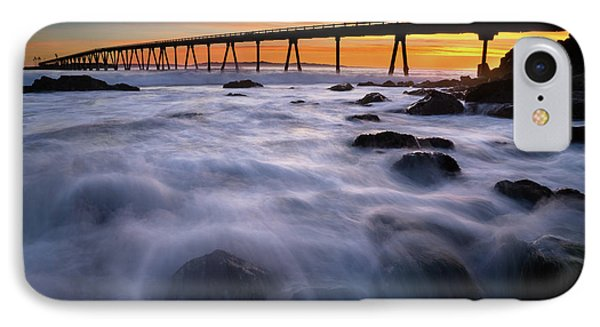 Rincon Island Pier  IPhone Case by Stephen Mori Photography