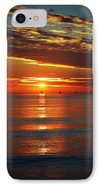 Rincon Sunset IPhone Case by John A Royston
