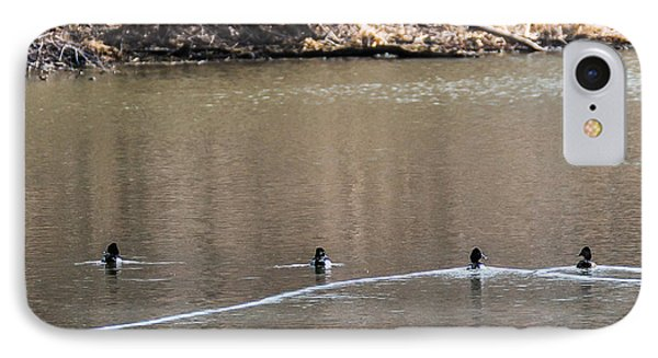 Ring-necked Duck Formation IPhone Case