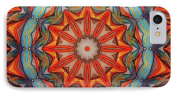 IPhone Case featuring the drawing Ring Of Fire by Mo T