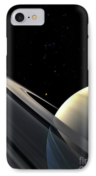 Rings Of Saturn Phone Case by Fahad Sulehria