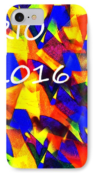 Rio 2016 Olympics Poster  IPhone Case by Enki Art
