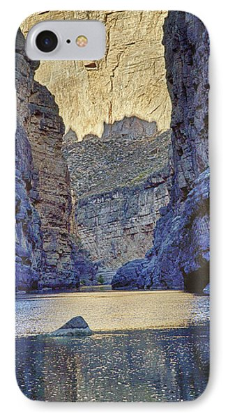 IPhone Case featuring the tapestry - textile Rio Grand, Santa Elena Canyon Texas 2 by Kathy Adams Clark