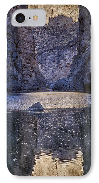 IPhone Case featuring the tapestry - textile Rio Grand, Santa Elena Canyon Texas by Kathy Adams Clark