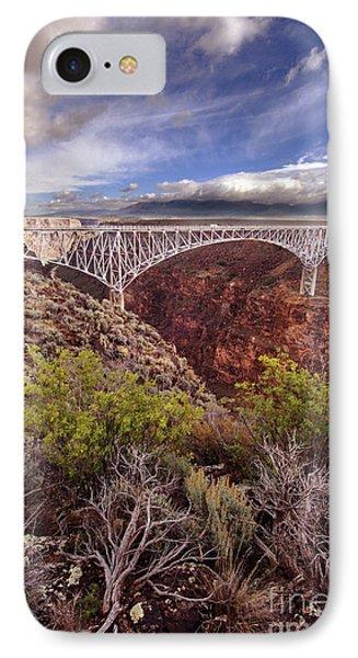 Rio Grande Gorge Bridge IPhone Case by Jill Battaglia
