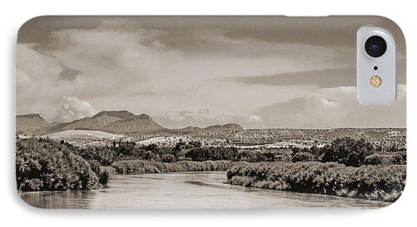 Rio Grande In Sepia IPhone Case by Allen Sheffield