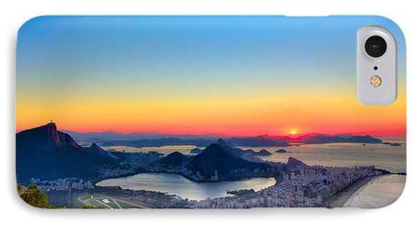 Rio Sunrise IPhone Case by Kim Wilson