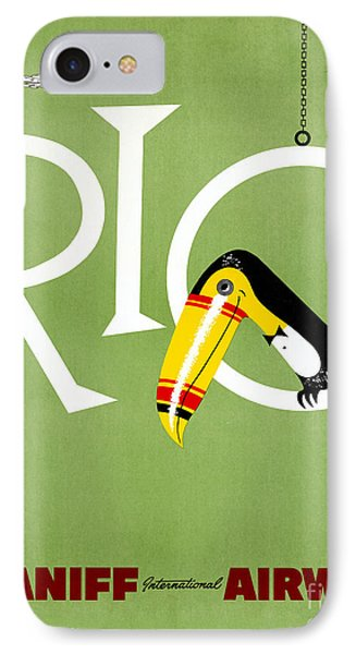 Rio Vintage Travel Poster Restored IPhone Case